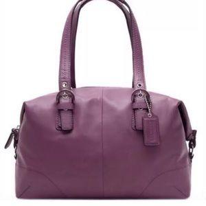 Coach SohoBerry D1173f17220 Purple Leather Satchel